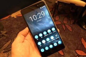 Nokia 6 - Front View, homescreen