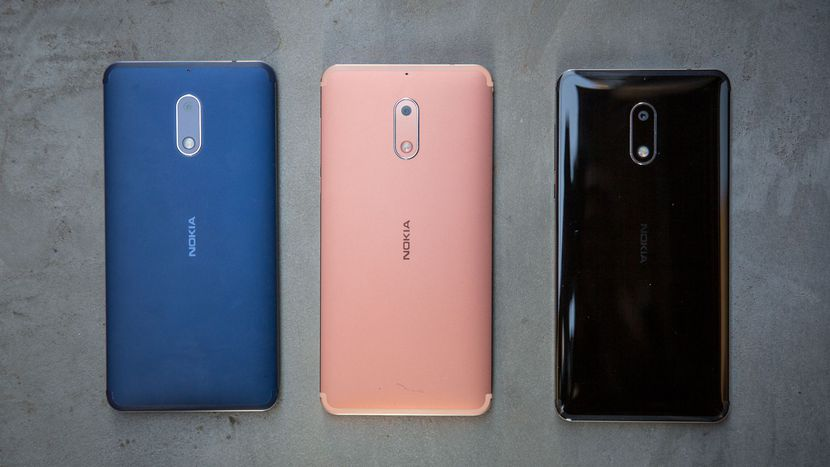 Nokia 6 Color Variants - Back, Blue and Copper