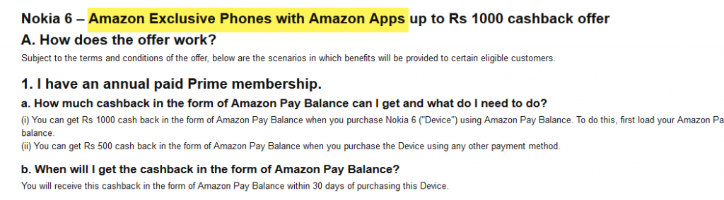 amazon apps nokia 6