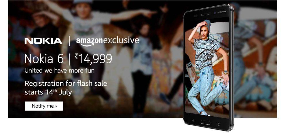 nokia 6 amazon flash sale india