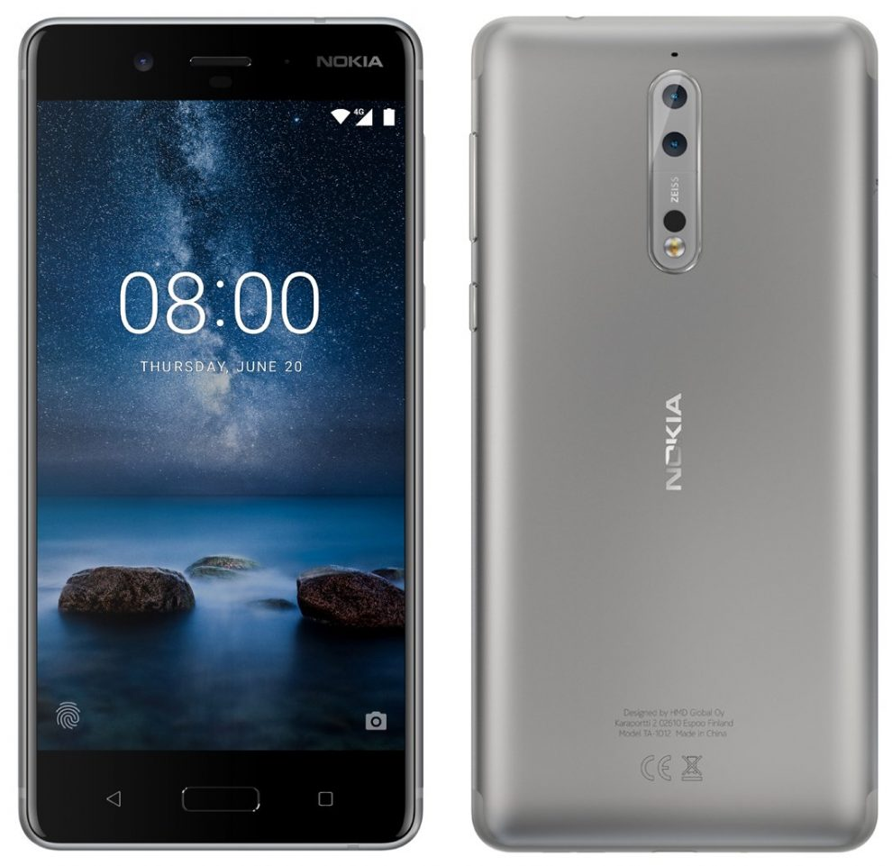 Nokia 8 Leaked in Silver color