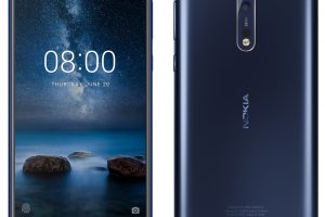 Nokia 8 blue HD Image front & back