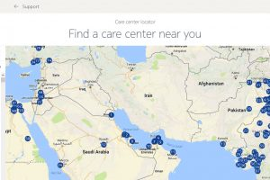 Nokia Mobile care center map