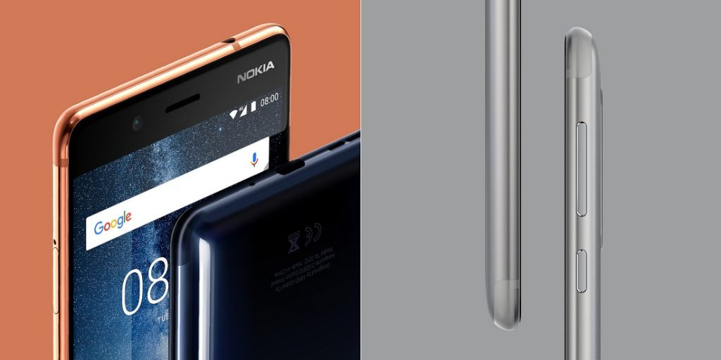Nokia 8 design front, back, left, right