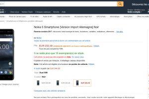 Nokia 5 - Amazon France