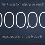 Nokia 6 Million Registrations