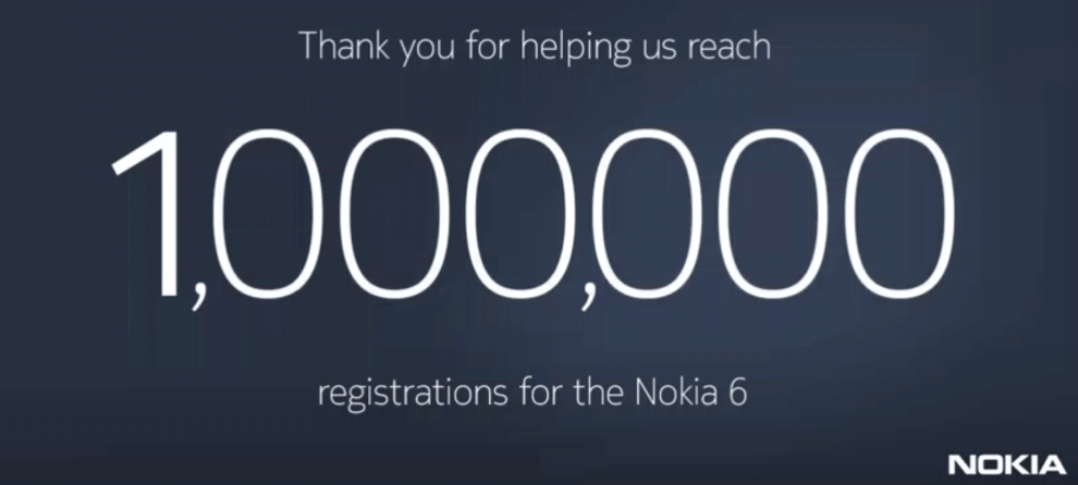 Nokia 6 Million Registrations