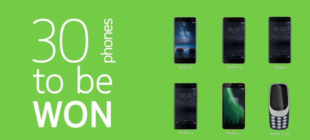 Nokia Mobile Giveaway - Win a Nokia 8, 6, 5, 3, 2 or Nokia 3310