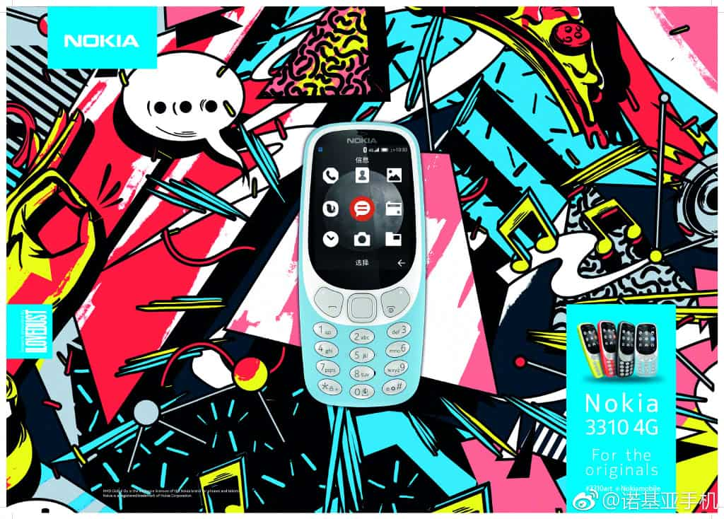 Nokia 3310 4G graphic