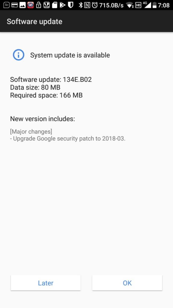 Nokia 7 March Security patch