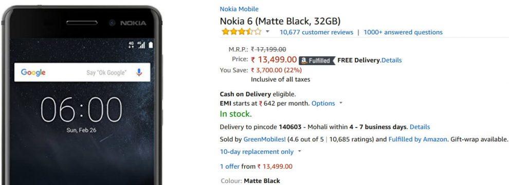 nokia 6 32gb price