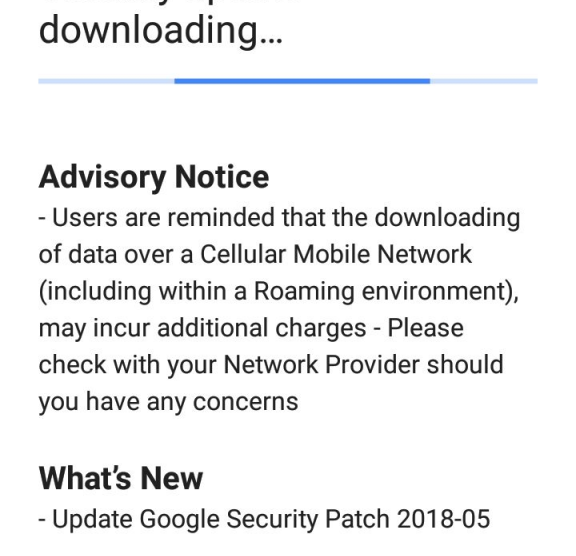 Nokia 5 May security update