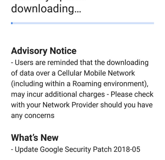 May security update for Nokia 6