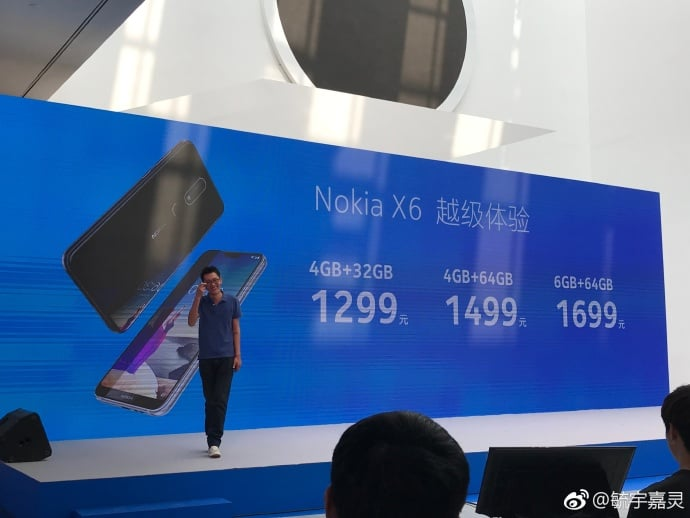 Nokia X6 price in China