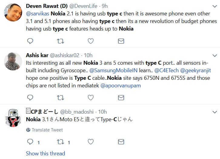 Nokia type C twitter