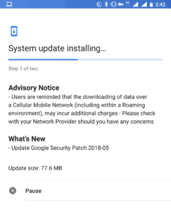 May security patch for Nokia 8