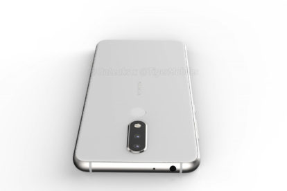 Nokia 5.1 plus render (top) with headphone jack