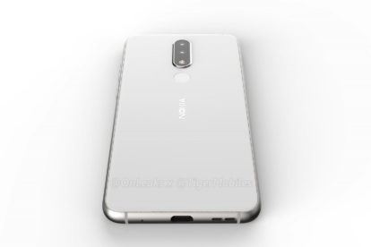 Nokia 5.1 plus render (back) with speaker and Type C