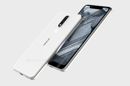 Nokia 5.1 leaked render sideways