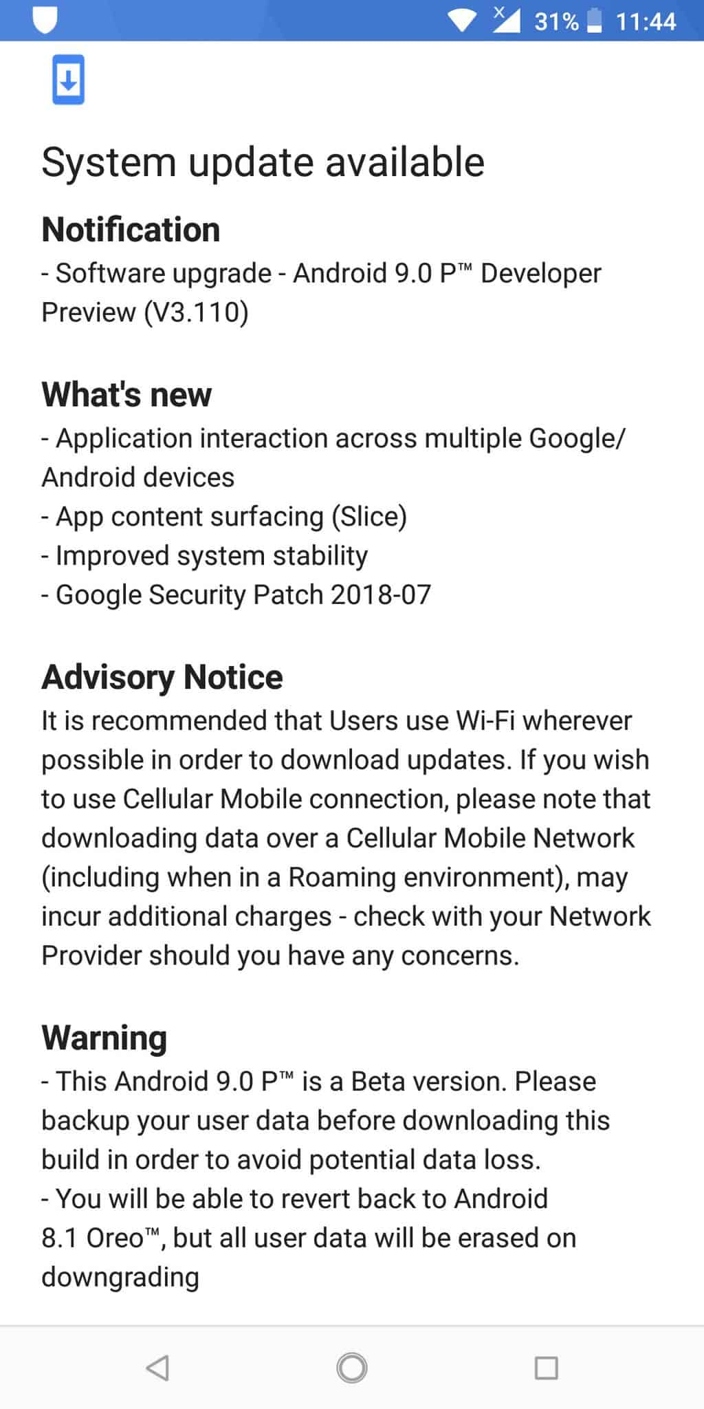 Android P DP3 starts rolling to the Nokia 7 plus (OTA