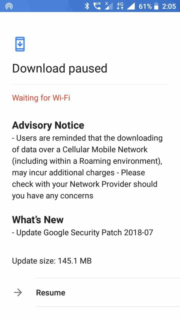 July patch for Nokia 5