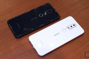Nokia X6 black and White with Android One