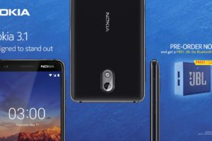 Nokia 3.1 Philippines pre-order - Free JBL Go speakers