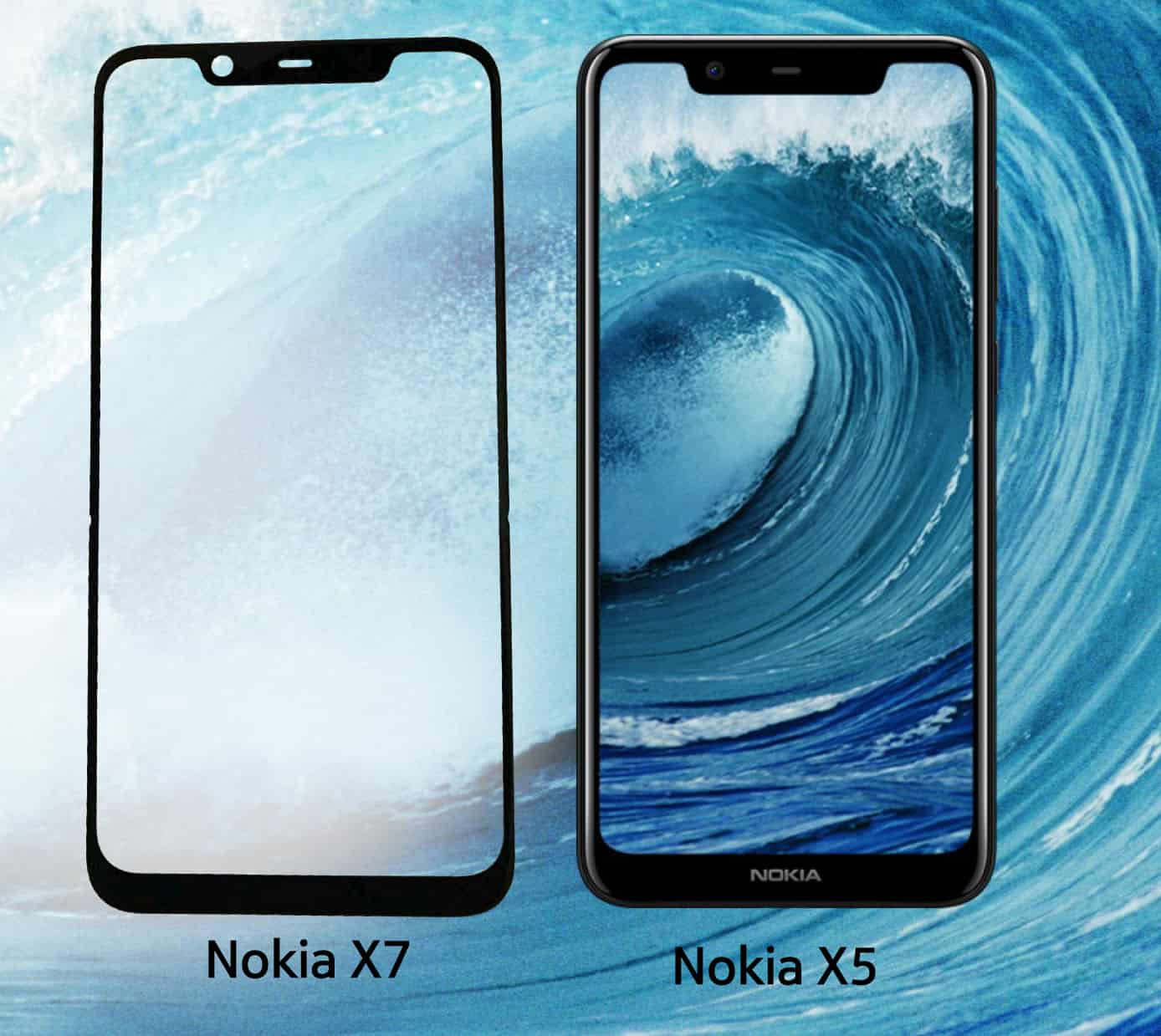 Nokia X7 alongside X5