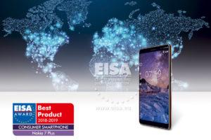 Nokia 7 Plus EISA Consumer Smartphone award
