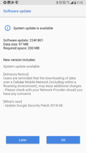 Nokia 7 August Security update