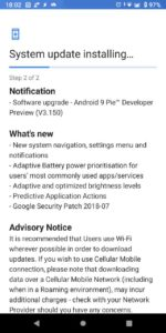Nokia 7 Plus Android P DP4 update