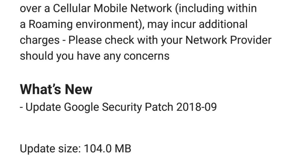 Nokia 6 September update