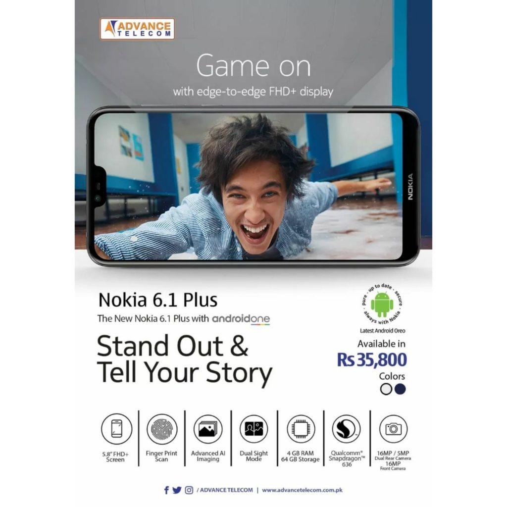 Nokia 6.1 Plus in Pakistan at Advance Telecom