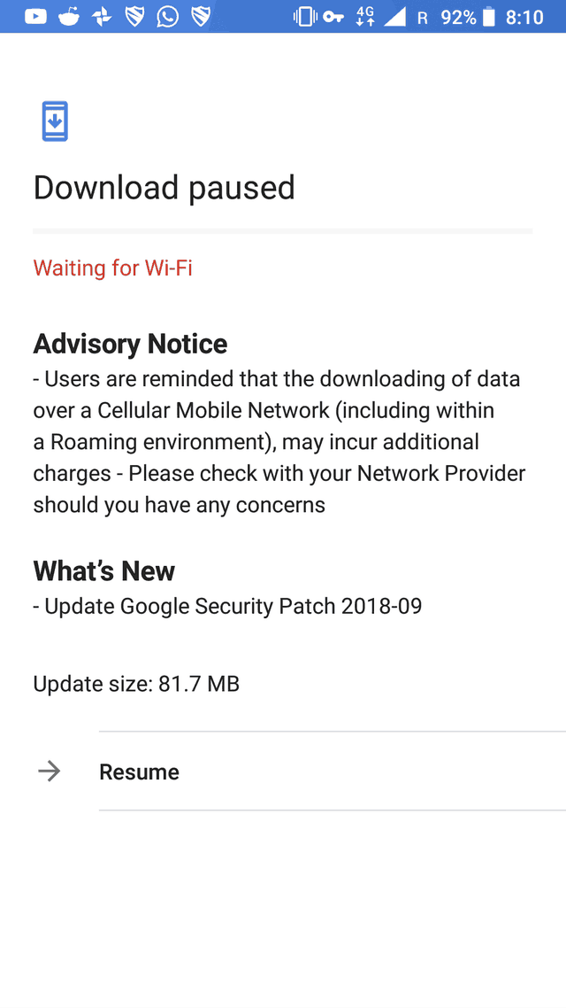 Nokia 6.1 September 2018 update