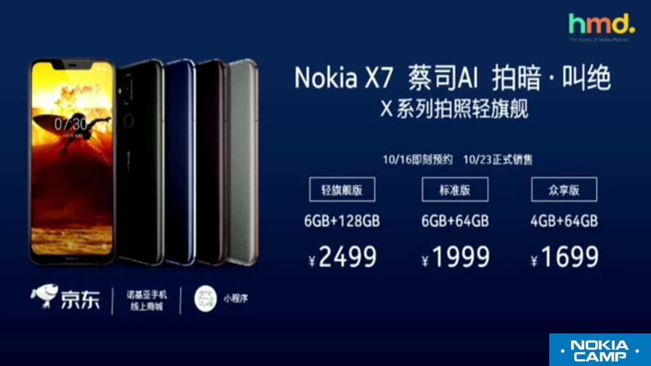Price of Nokia X7