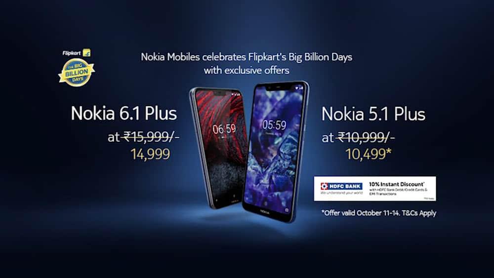 Nokia big billion days offer