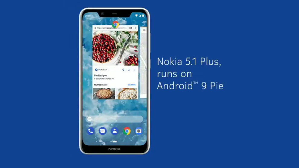 Nokia 5.1 Plus Android Pie update