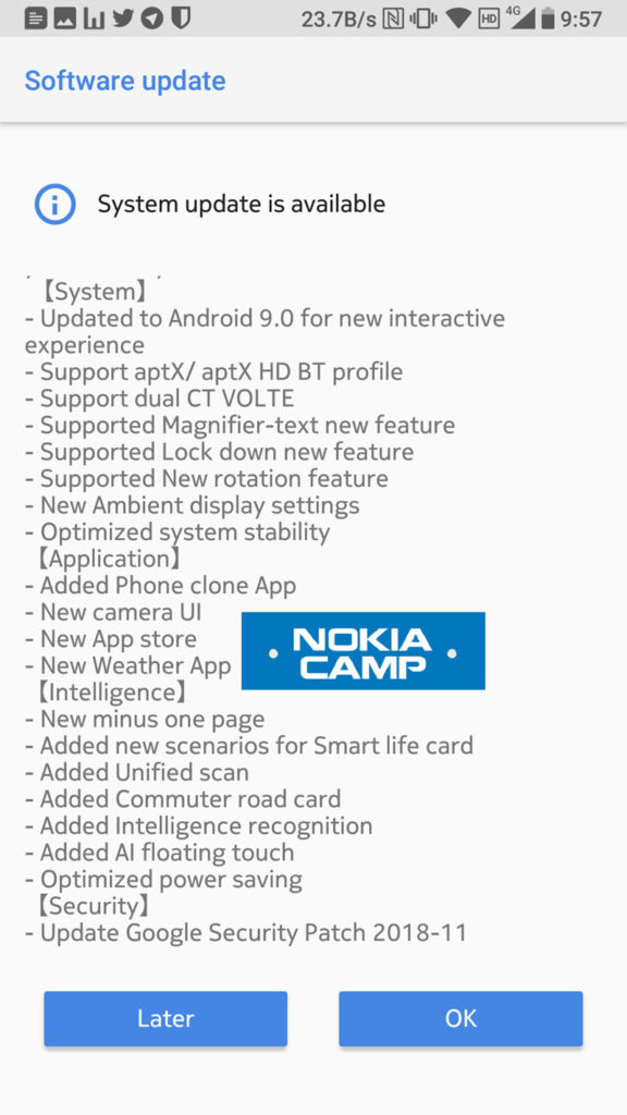Nokia 7 TA-1041 Android Pie