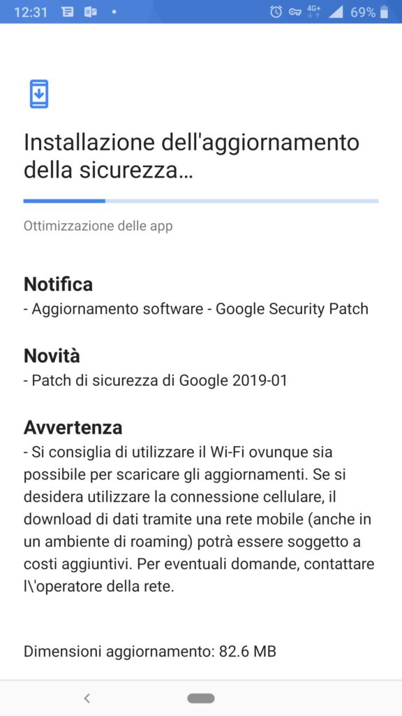 Janaury Security Patch update for Nokia 8 Sirocco