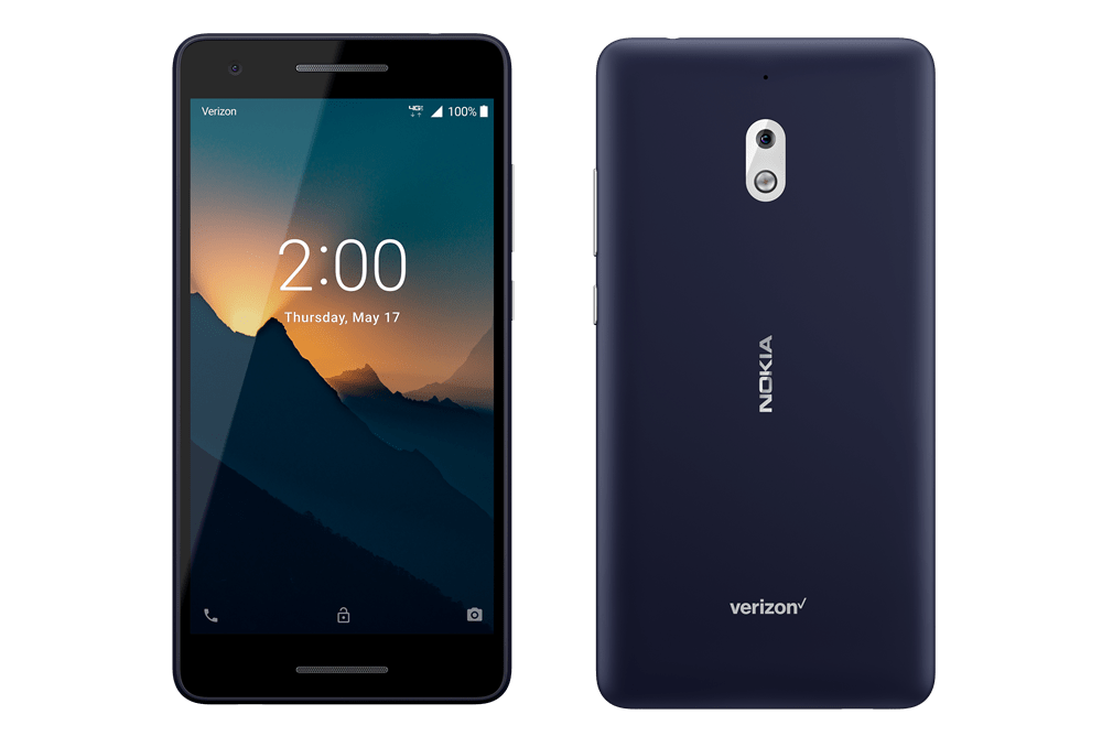 Nokia 2V front and back