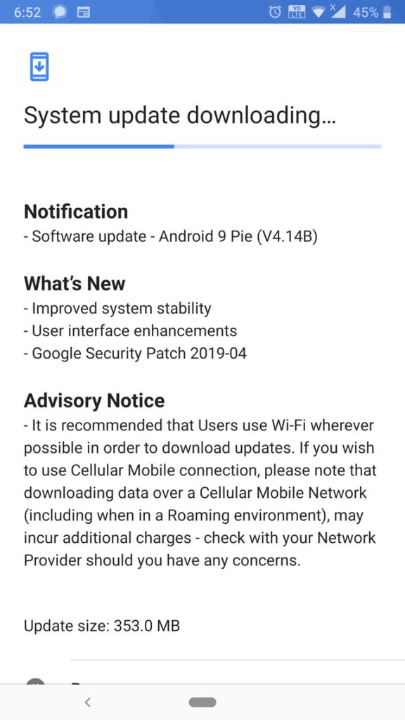 Nokia 8 April Maintainance release