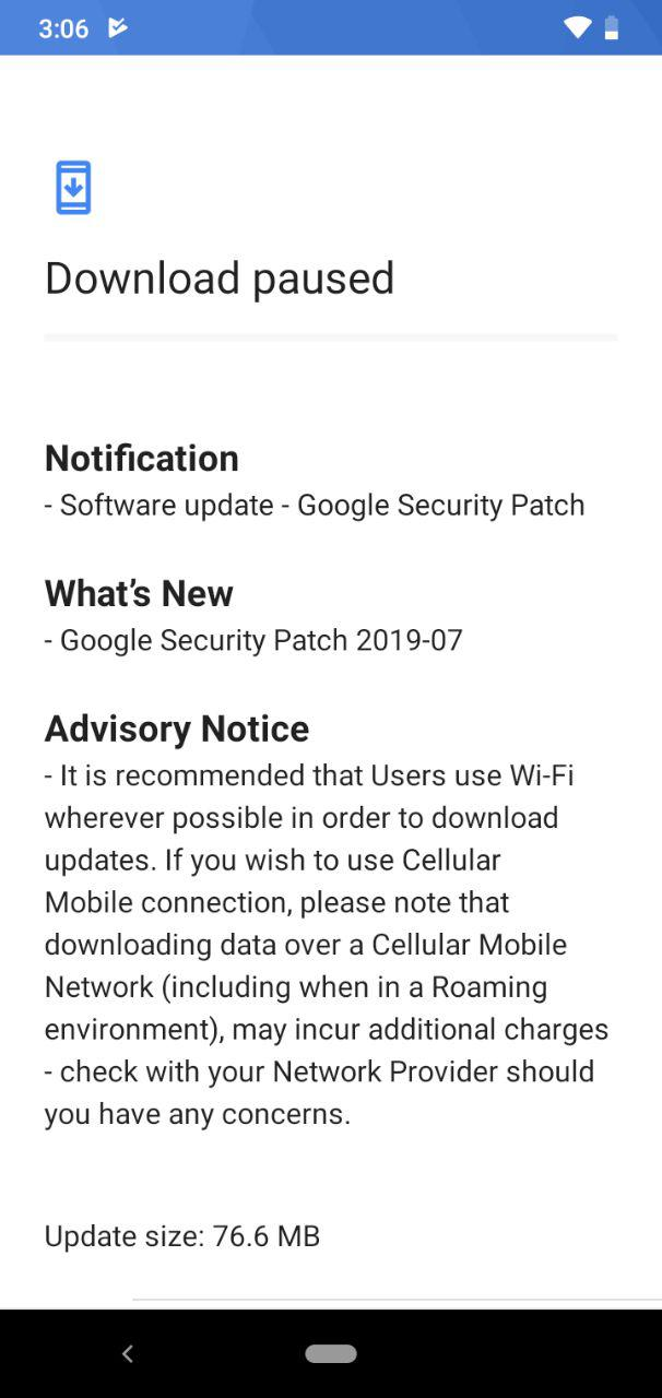 Nokia 2.2 July 2019 update