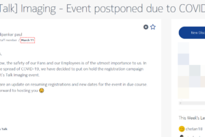 Let's Talk Imaging event postponed